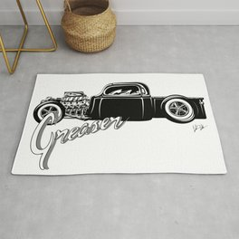 Greaser Hot Rod Rug