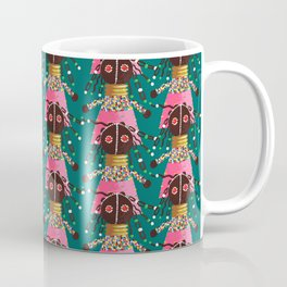 Girly african doll in pink dress Coffee Mug