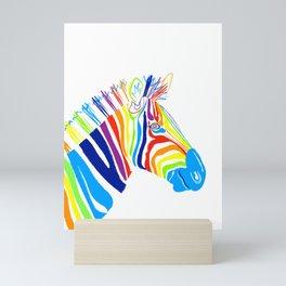 Rainbow Zebra Mini Art Print
