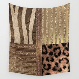 Gold Lioness Safari Chic Wall Tapestry