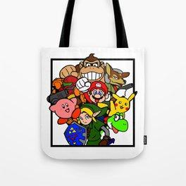 Super Smash 64 Roster Tote Bag