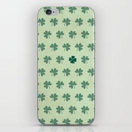 Lucky Clover Pattern iPhone Skin