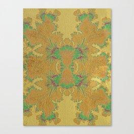 Golden Peacock Modern Abstract Pattern Canvas Print