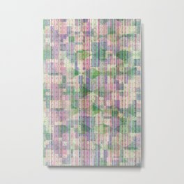 Light Pastel Glitch Fabric Metal Print