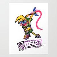 Zelda 2099 Art Print