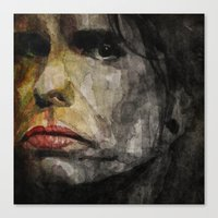tyler spangler Canvas Prints featuring Steven Tyler by Paul Lovering Watercolors