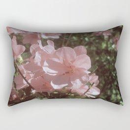 Happy Little Pink Flowers Rectangular Pillow