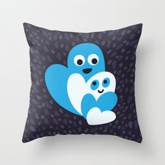 Happy Hearts Family Throw Pillow