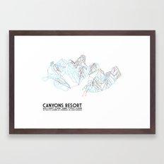 Canyons Resort, UT - Minimalist Trail Art Framed Art Print