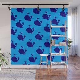 Little Whale (blue) Wall Mural