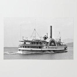 Ticonderoga Side Wheeler Steamboat Rug