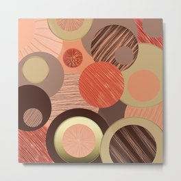 Circles and lines Metal Print