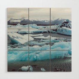 Jökulsárlón Glacier Lagoon, Iceland Wood Wall Art