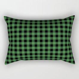 Classic Green Country Cottage Summer Buffalo Plaid Rectangular Pillow