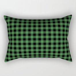 Classic Green Country Cottage Summer Buffalo Plaid Rectangular Pillow