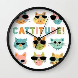 Cattitude Wall Clock