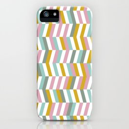 Yellow, Pink and Blue   Geometric Pattern iPhone Case