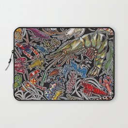 Prawns, gambas and shrimps for ocean lovers, marine biologists and scuba divers Laptop Sleeve