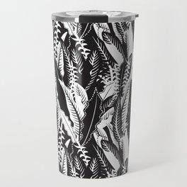 Inner Jungle in Black and White Travel Mug