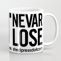 audi Mugs featuring 1.8T NEVAR LOSE by shedpress