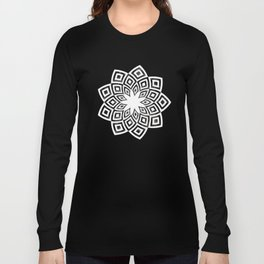 Black and white watercolor diamond pattern Long Sleeve T-shirt