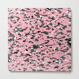 Camouflage: Pink II Metal Print