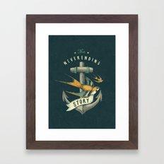 Anchor | Petrol Grey Framed Art Print