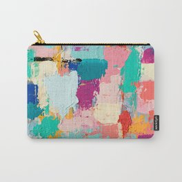 CABBAGE HANDS // ABSTRACT MIXED MEDIA ON CANVAS Carry-All Pouch