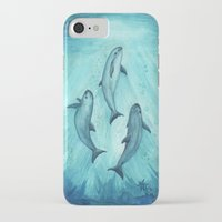river song iPhone & iPod Cases featuring Song of the Vaquita  by Amber Marine