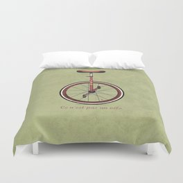 Unicycle Duvet Cover