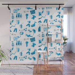 Blue Things Wall Mural