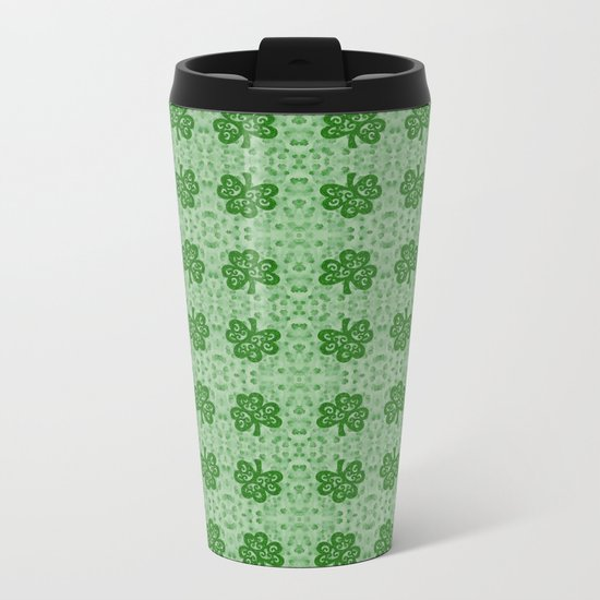 Irish Clover Metal Travel Mug