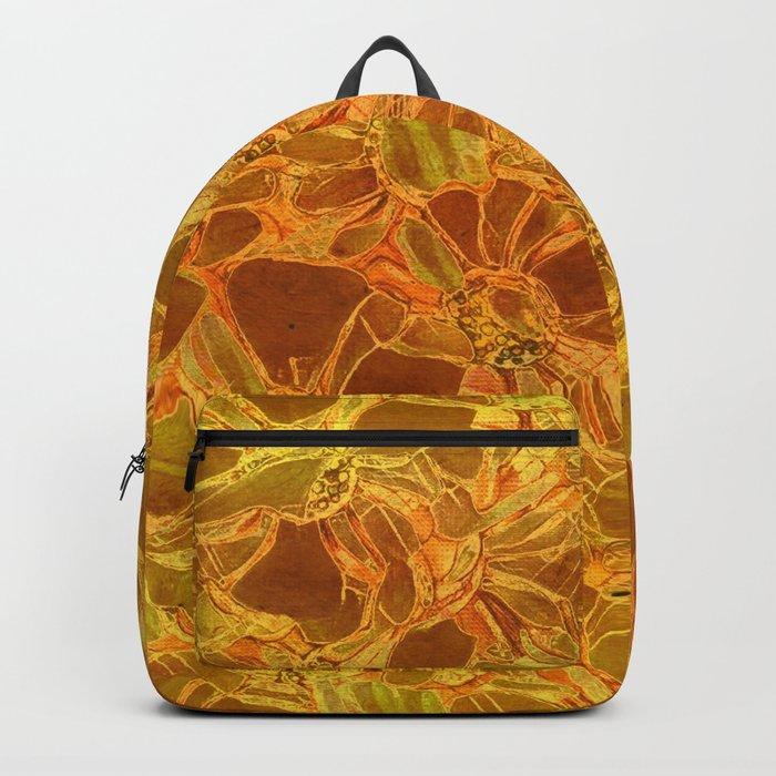 amber floral Backpack