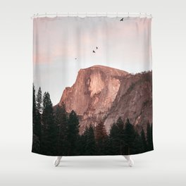 Yosemite Mountain Birds Half Dome Shower Curtain