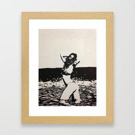 Breathe Gasmask Framed Art Print