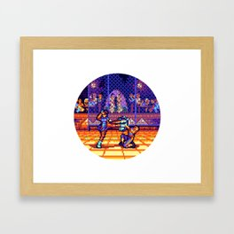 Chun Li vs. Vega Framed Art Print