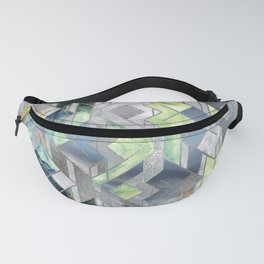 Geometric Translucent Agate and Mother of pearl Fanny Pack