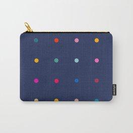 Rainbow polka dot pegboard (dark blue) Carry-All Pouch