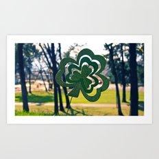 Symbol of luck Art Print
