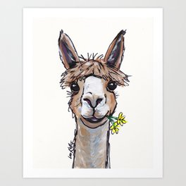 Lycoming the Alpaca, Alpaca Art Art Print