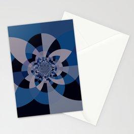 Shades of Classic Blue & Gray Kaleidoscope Mandala Stationery Cards