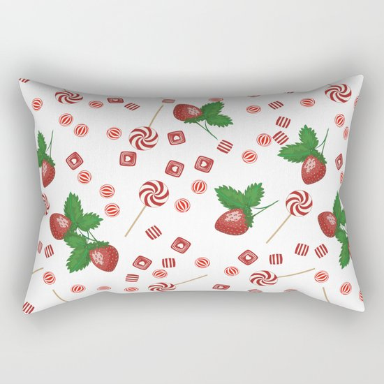 Candy lollipops Strawberry sweets Rectangular Pillow
