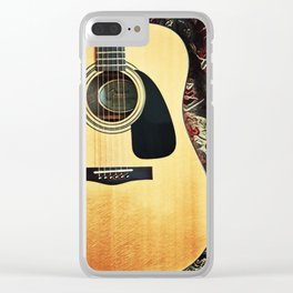 Heart Strings By Inez Benoit - My Guitar Gently Weeps Clear iPhone Case