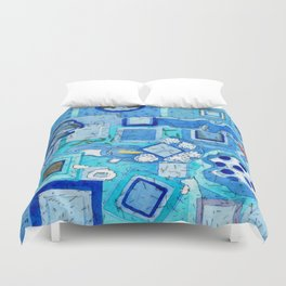 Blue Room with Blue Frames Duvet Cover