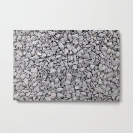 Cambrian green stone chippings Metal Print