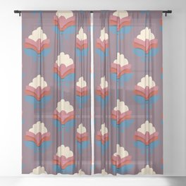 Retro fall florals- n. 2 Sheer Curtain