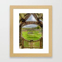 St Celynnin Graveyard Framed Art Print