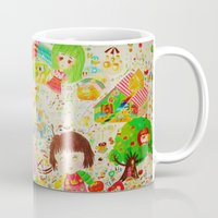 shopping Mugs featuring shopping by mayubonne