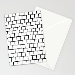 White Squares Stationery Cards