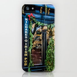 Kildares Irish Pub at Christmastime iPhone Case